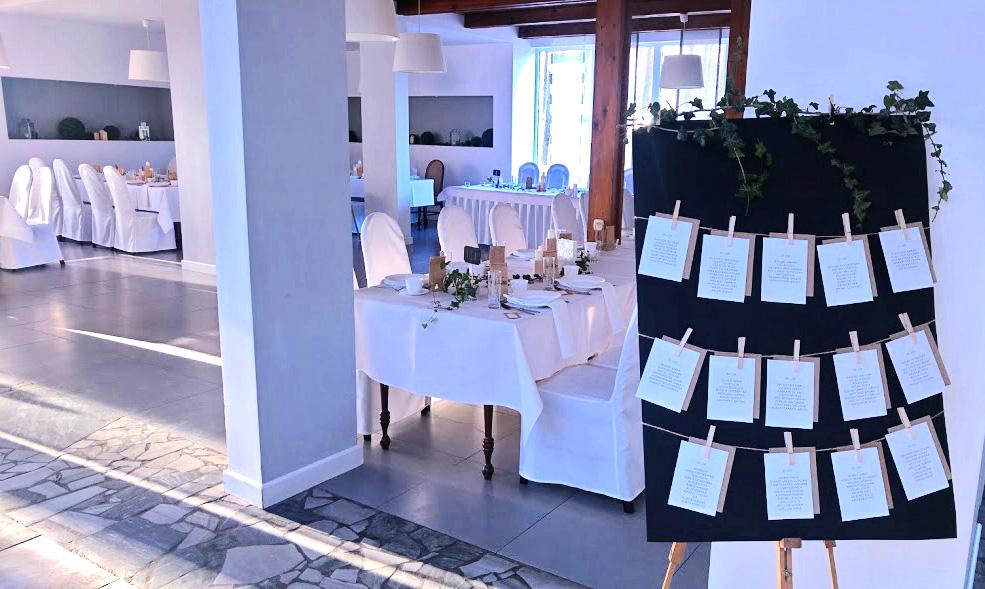 Układ stolików i gości na bankiecie w Zakopanem