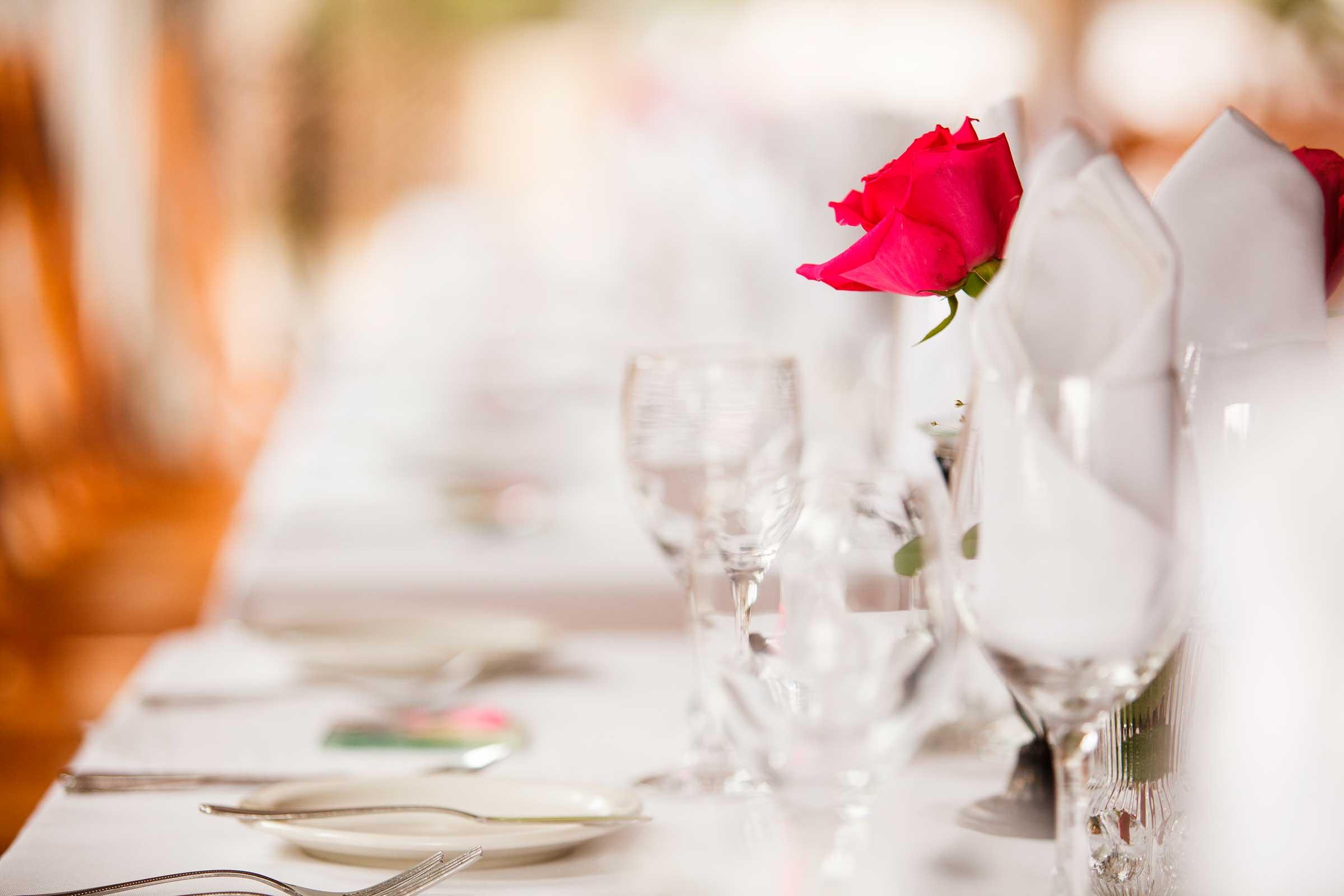Zastawa stołu na bankiecie w Zakopanem